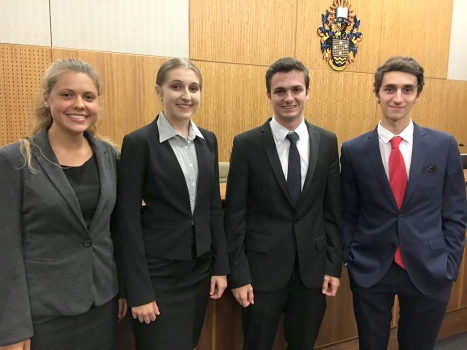 Bond University Mooting Finalists Kate Is Second From Left