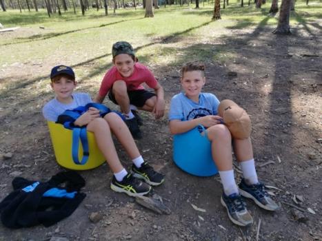 Year 6 Camp Boys On Camp 2