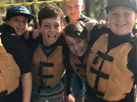 Year 6 Camp Boys On Camp