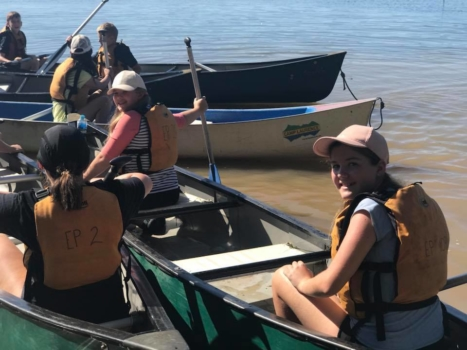 Year 6 Camp Canoing