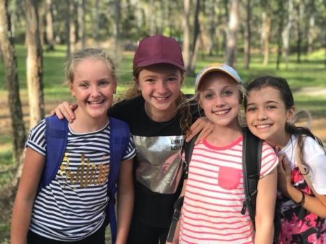 Year 6 Camp Girls On Camp 1