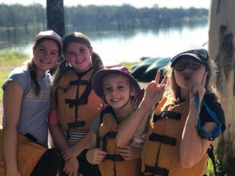 Year 6 Camp Girls On Camp 2