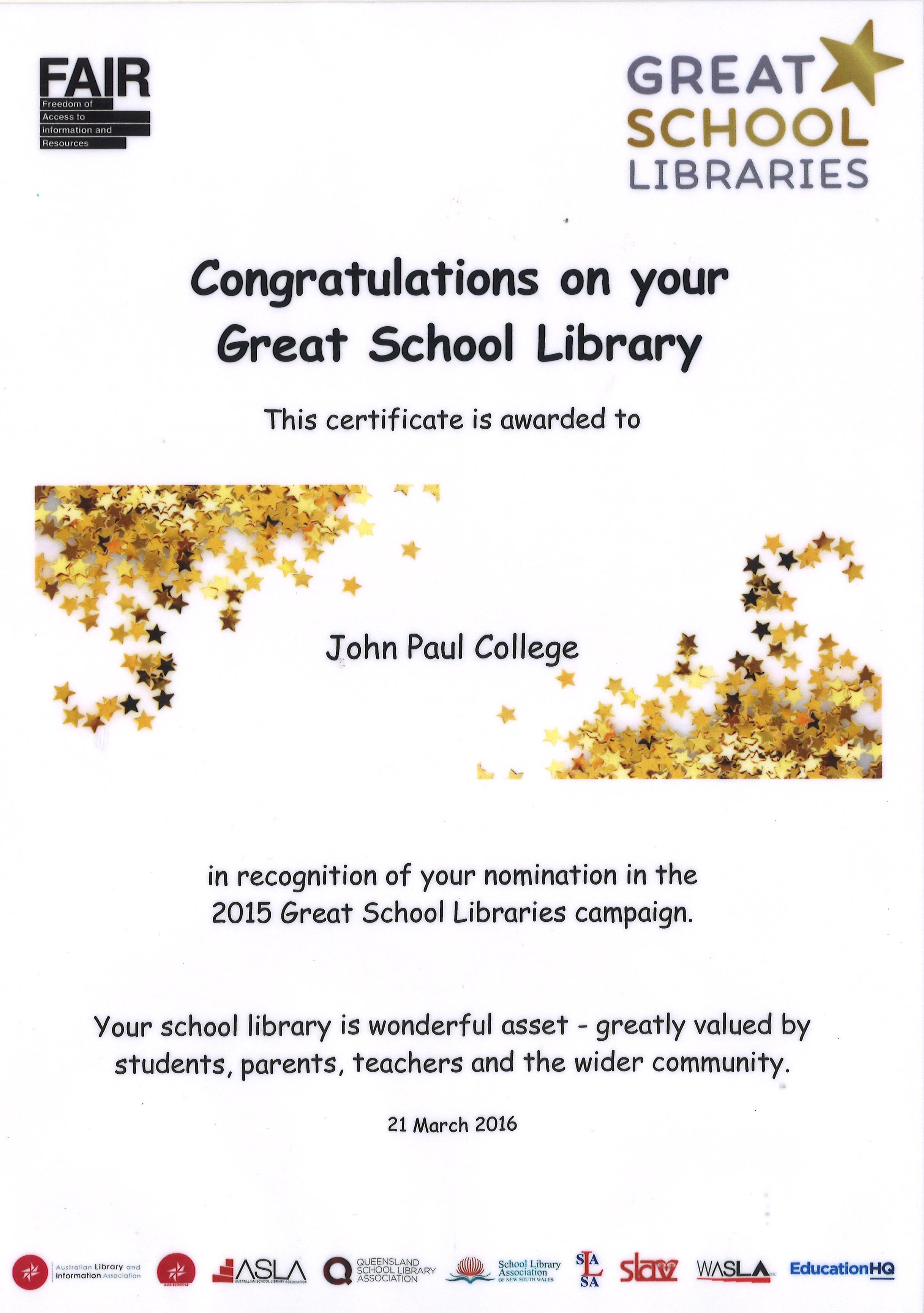 John Paul College Newsletter