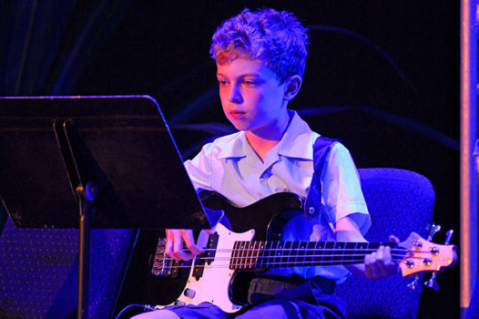 Young Boy Electric Guitar