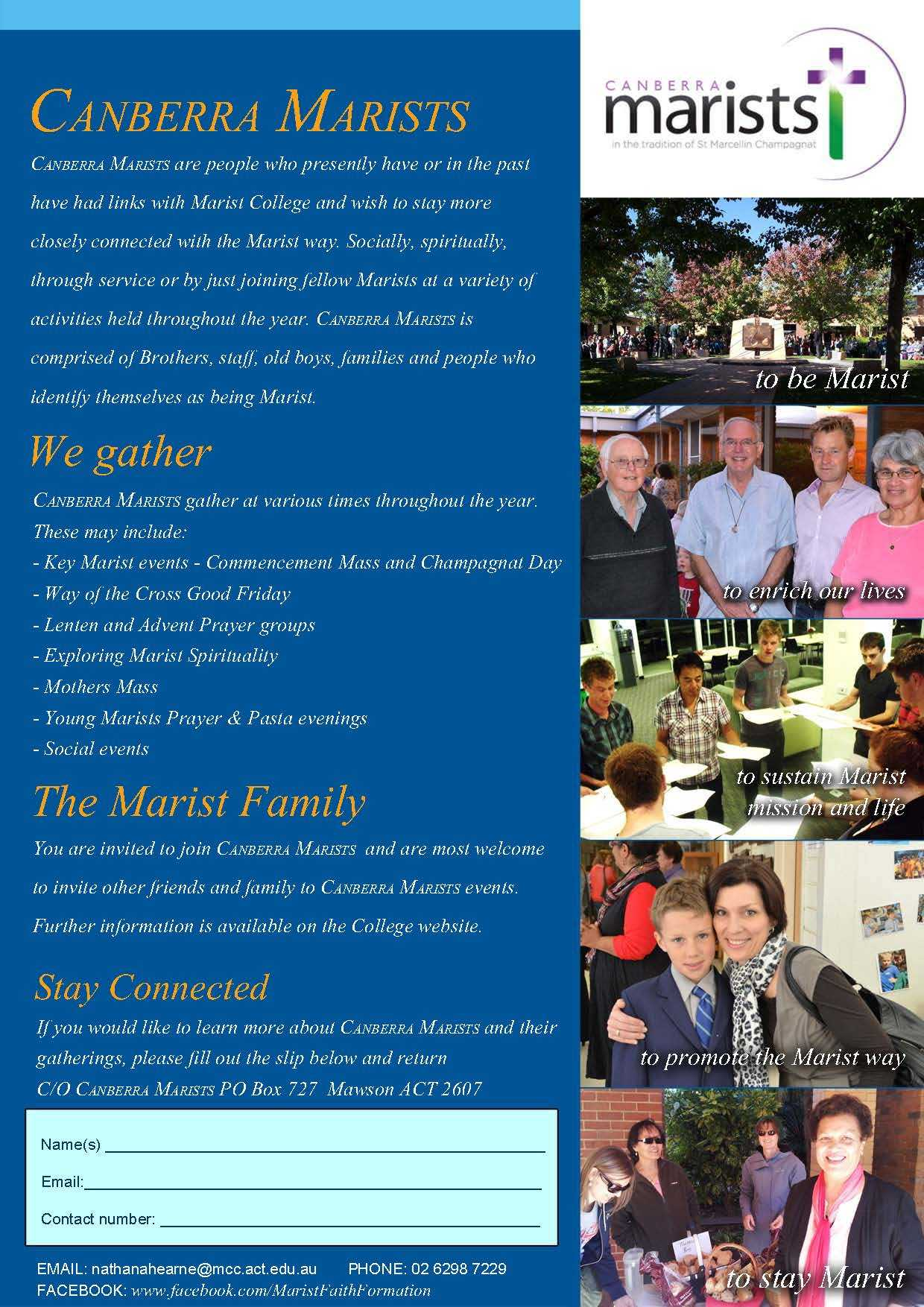 Canberra Marists flyer