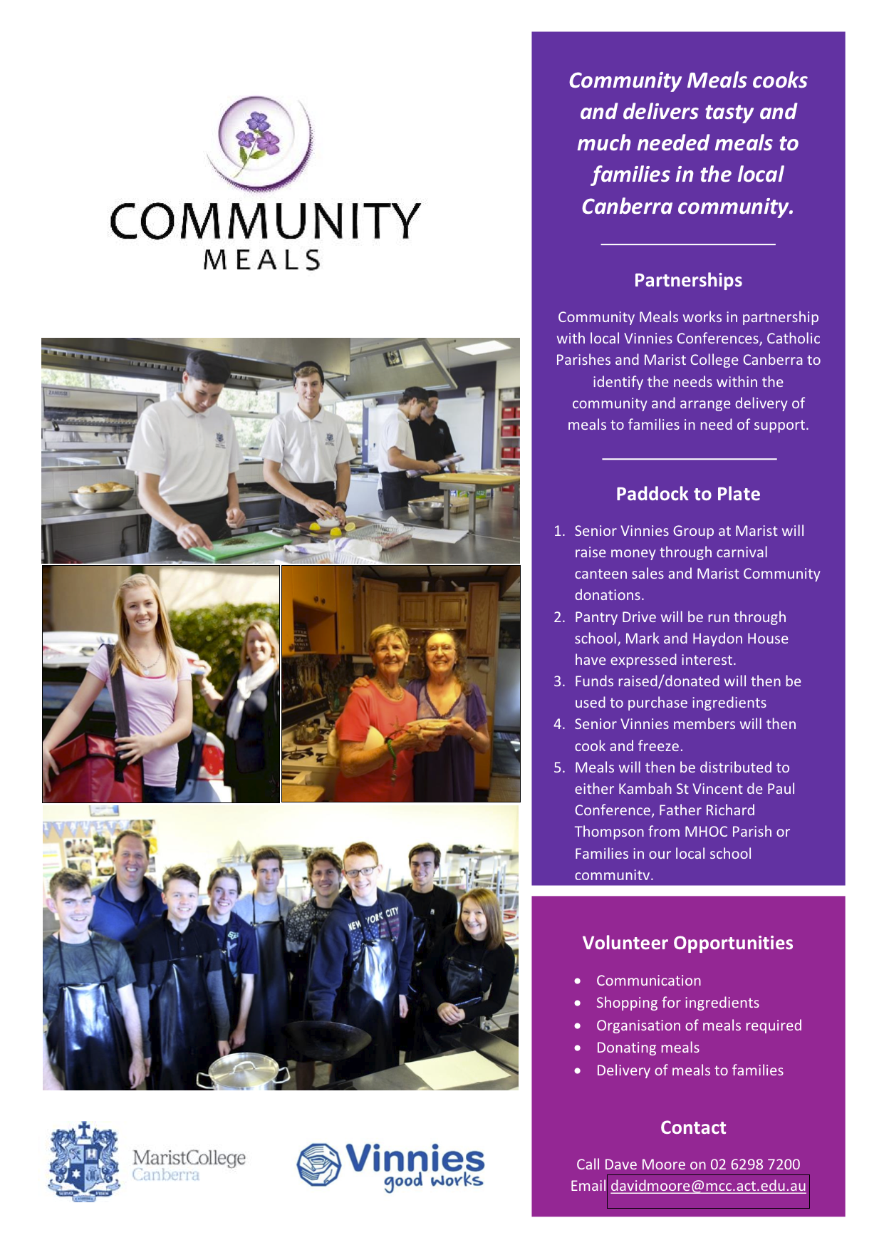 Community Meals flyer