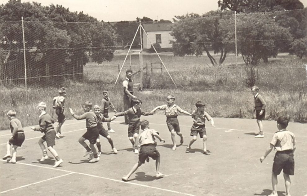 1941 Primary Class St  Augustine's Tennis Courts