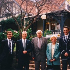 1998 Headmaster Sir Gustav Nossal Mary Jones Ross Schloeffel Head Boy