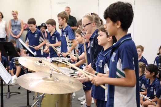 Northside Students Playing Percussion