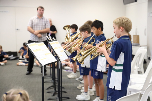 Northside Students Playing Trumpet