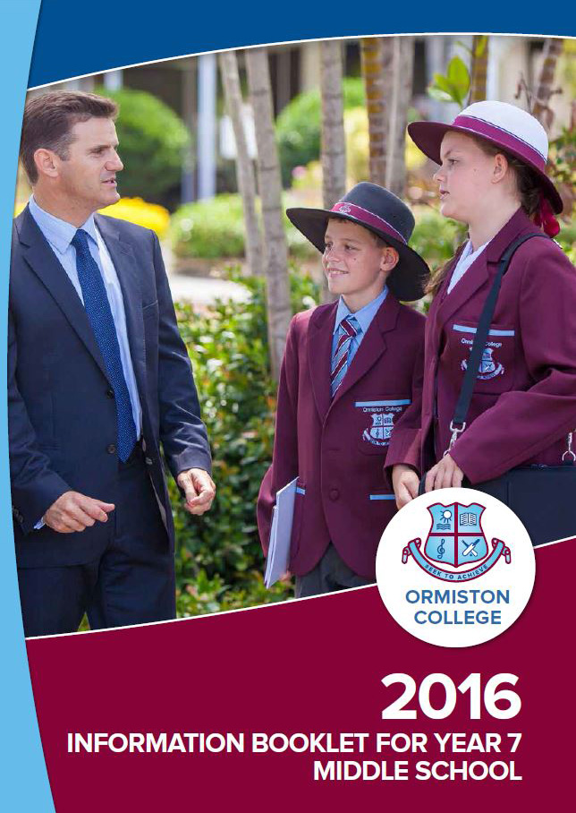 Information Booklet for Year 7 (Middle School)