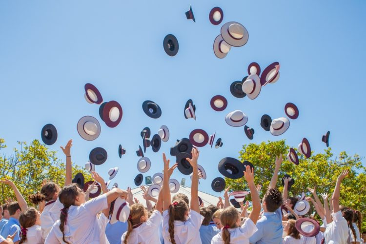 Year-12-Students-Hat-Toss