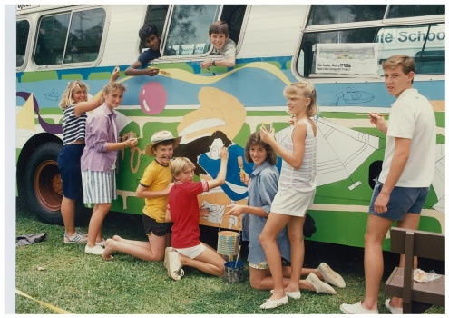 1987 Rlc Students Won Sunday Mail Paint A Bus Comp For Expo