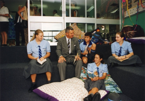 1999 Opening Of Middle School Library Pit Qld Governor Major General Peter Arnison 21 March