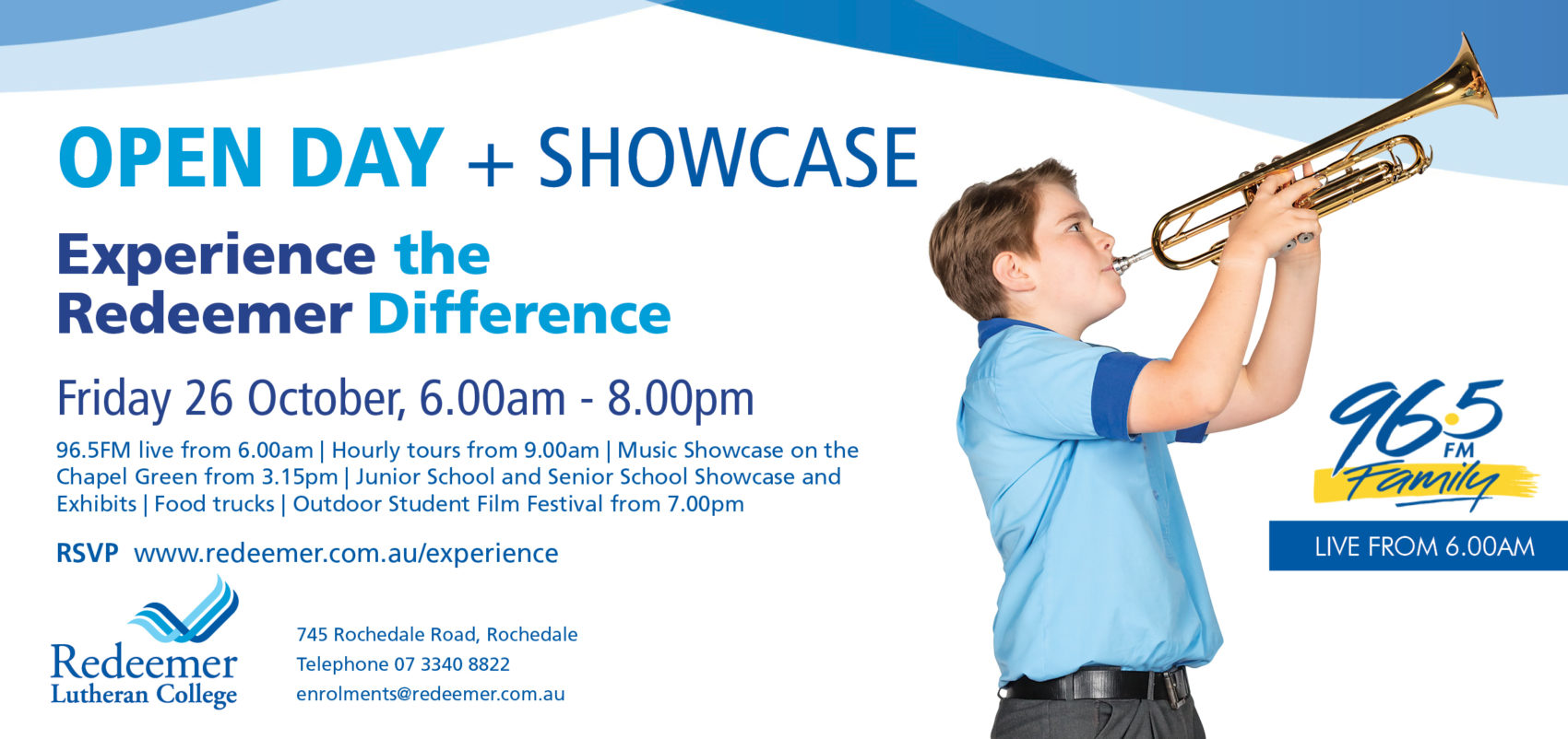 Experience Redeemer: Open Day + Showcase