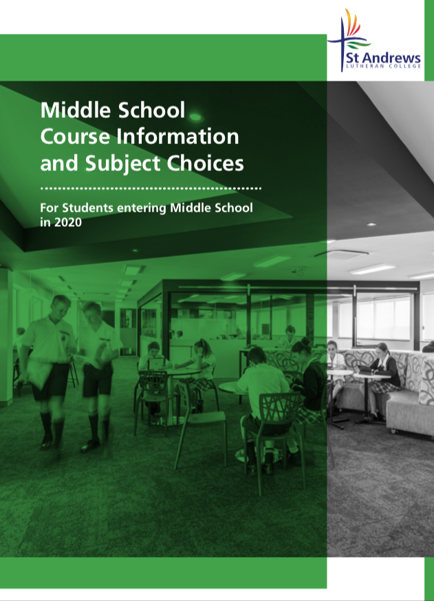 Middle school elective booklet 2020