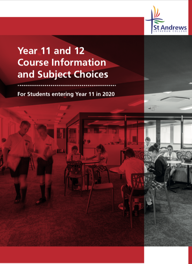 Year 11 and 12 Subject selection booklet 2020