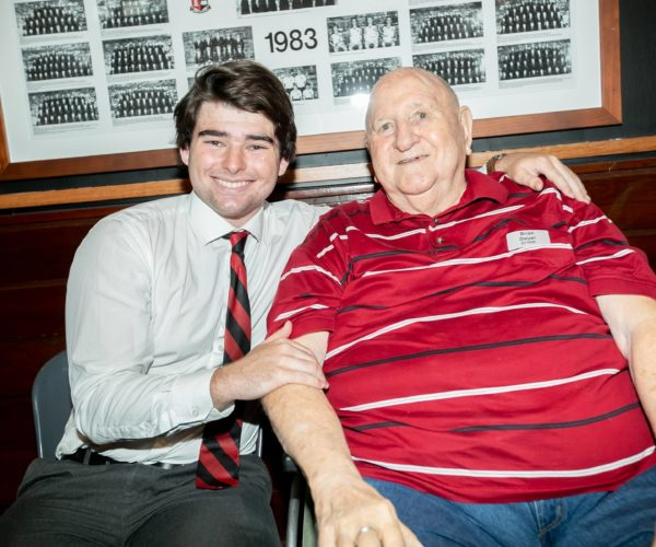 Ed Horsburgh With Grandfather Brian Dwyer