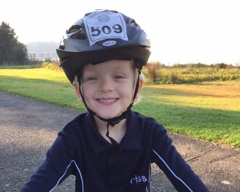 Damon Glynn, TIGS Year 1 student, having a great time at Ride Around the Lake