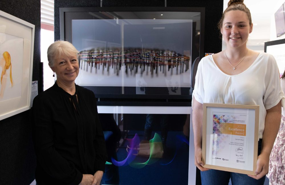 Year 12 student, Hannah: Creative Generation Award Winner for Excellence in Visual Art!