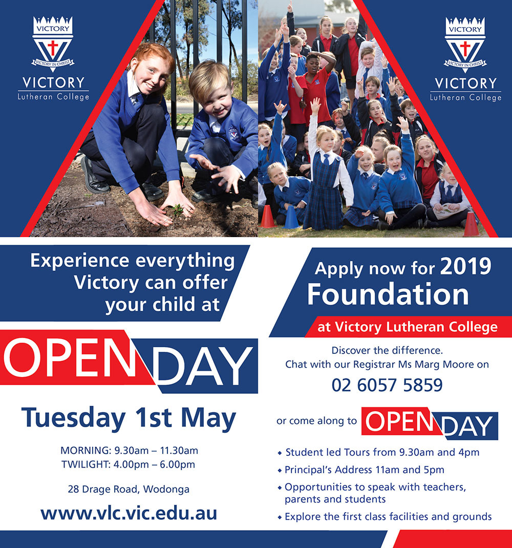 2018 Open Day Notice