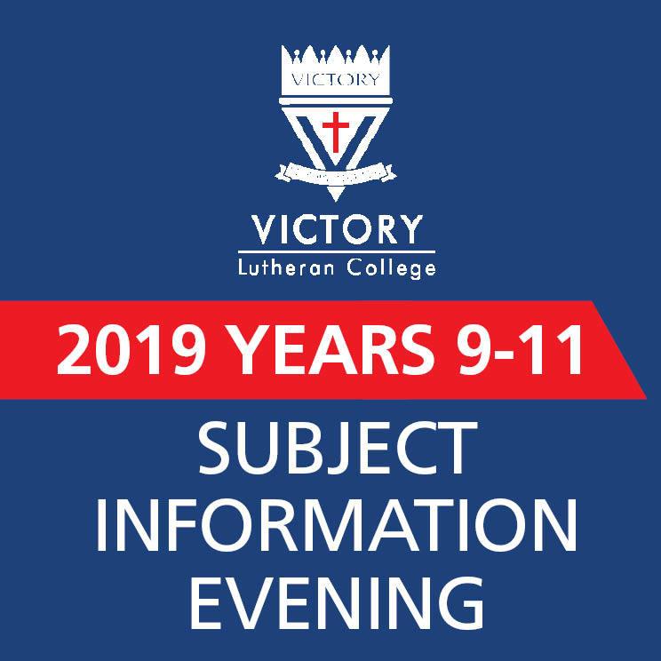 2019 Subject Info Night Promo Panel