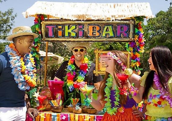 Hawaiian Party Tableware