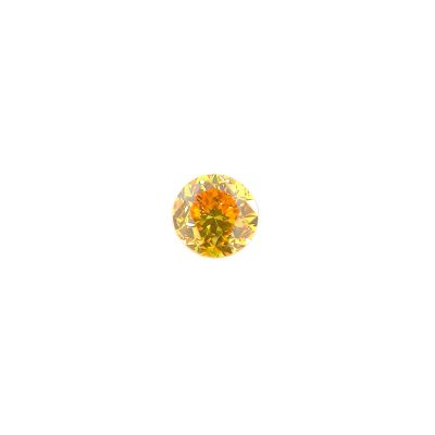 0.07ct Fancy Vivid Round Brilliant