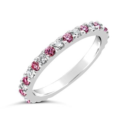 Diamond wedding rings brisbane diamond jewellery studio argyle pink and white wedding ringgasset junglespirit Gallery