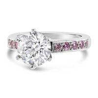 DJSP2/ Argyle Pink and White Diamond Engagement Ring