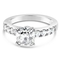 FSDR1/ Platinum Cushion Engagement Ring
