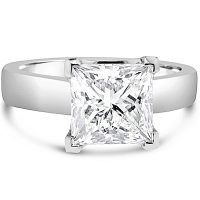 FSDS1/ Platinum Princess Cut Solitaire