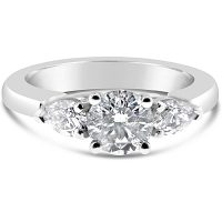 TDR2/ 18ct White Gold 3 Stone Engagement Ring