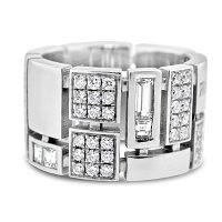 DWR2/ 18ct White Gold Diamond Wedding Ring