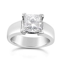 FSDS2/ Platinum Princess Cut Solitaire