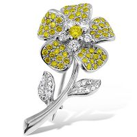 DBP1/ 18ct Yellow Diamond Brooch