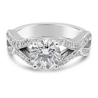TDR45/ 18ct white gold diamond engagement ring