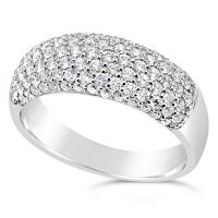DWR20/ 18ct White gold Diamond Band