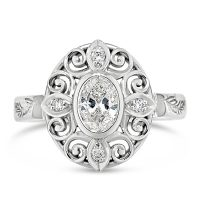 FSDR34/ 18ct White Gold Oval Diamond Ring