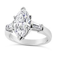FSDR5/ 2ct Platinum Marquise Diamond Engagement Ring
