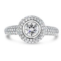 TDR7/ Platinum Diamond Halo Engagement Ring