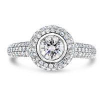 TDR7/ Platinum Diamond Halo Engagement Ring