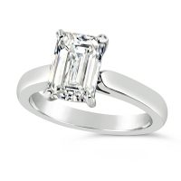 FSDS13/ 2ct Emerald Cut Solitaire in Platinum