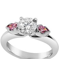 DVR12 / 18ct White Gold Argyle Pink Diamond Ring