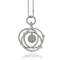 APDJ4 / 18ct White Gold Argyle Pink Diamond Pendant