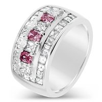 DJSP7/ 18ct White Gold Argyle Pink and White Diamond Ring