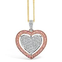 APDJ/7 Argyle Pink Diamond Heart Pendant