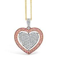 APDJ/7 Argyle Pink Diamond Heart Pendant