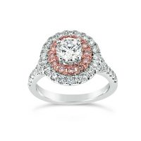 DJSP/48 18ct White Gold Argyle Pink Diamond Double Halo
