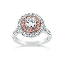 DJSP/48 18ct White Gold Argyle Pink Diamond Double Halo